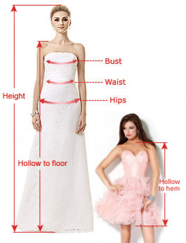 measuring guide for prom dresses