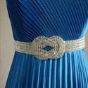Elegant Blue Satin Crinkling One Shoulder 2021 Prom Evening Dress