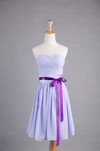 Lilac Short Bridesmaid Dresses, Short Chiffon Bridesmaid Dresses