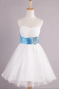 Short White Dresses For Homecoming,White Cocktail Dresses With Sequins