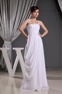 Chiffon Spaghetti Strap Bridesmaid Dress, Long Chiffon Prom Dress 2021