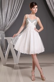 Short Graduation Dresses For High School, Ivory Short Homecoming Dress