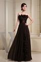 Long Brown Evening Dresses, Chocolate Brown Chiffon Bridesmaid Dresses