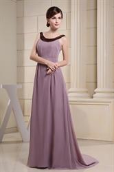 Long Purple Chiffon Prom Dresses, Formal Chiffon Dresses For Women