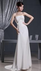 Chiffon Empire Waist Prom Dresses, Strapless Chiffon Evening Dress Uk
