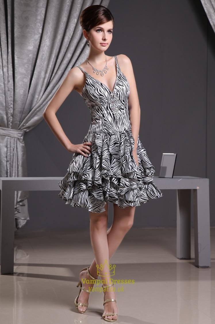 V Neck Short Cocktail Dresses, Short Dresses For Wedding