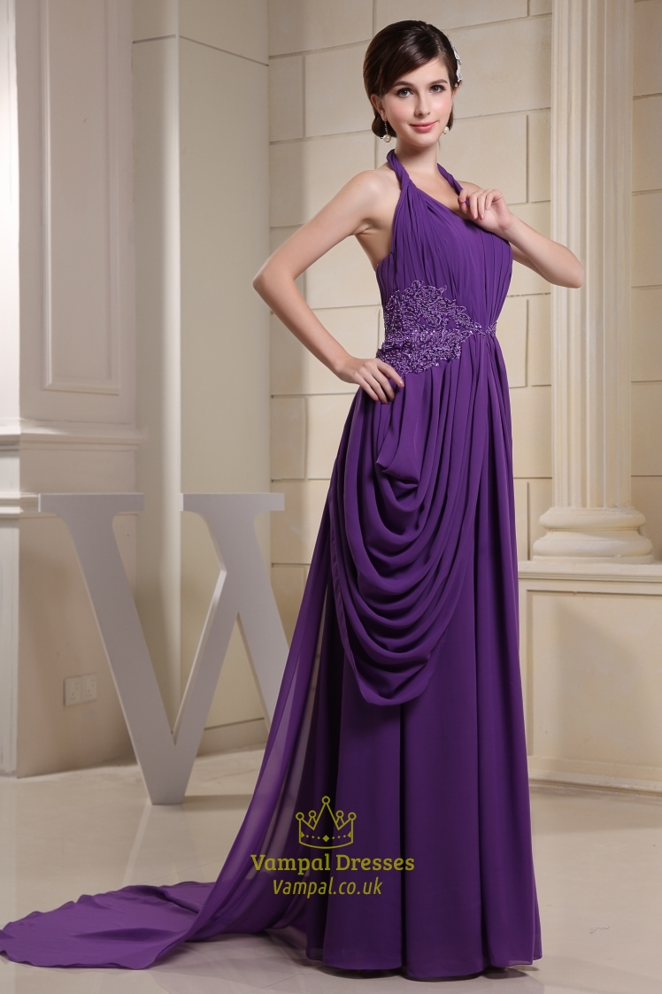 Purple maxi dresses uk