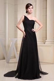Black One Shoulder Maxi Dress With Sequins,Black One Shoulder Maxi Dress