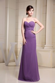 Purple Mermaid Prom Dresses 2019,Purple Long Mother Bride Dresses
