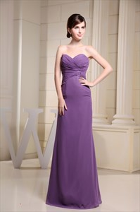 Purple Mermaid Prom Dresses 2021,Purple Long Mother Bride Dresses