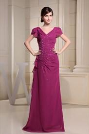 Hot Pink Cap Sleeve Dress,Cap Sleeve Dresses For Women 2019