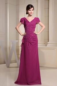 Hot Pink Cap Sleeve Dress,Cap Sleeve Dresses For Women 2021