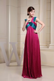 Long Hot Pink Evening Dress, Floor Length Prom Dresses For Tall Women
