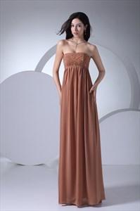 Long Strapless Chiffon Dress,Strapless Dresses For Women