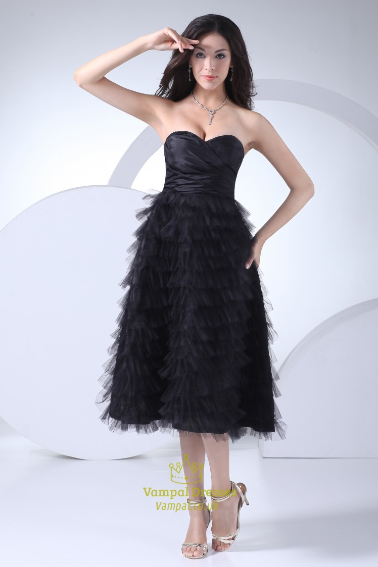 Short Black Cocktail Dresses With Feathers,Short Black ...