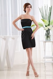 Strapless Little Black Dress, Short Black Strapless Cocktail Dresses