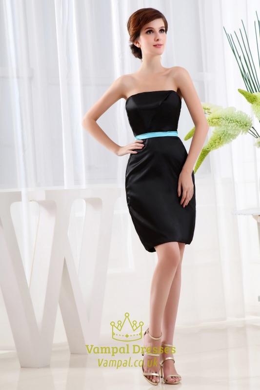 Strapless Little Black Dress Short Black Strapless