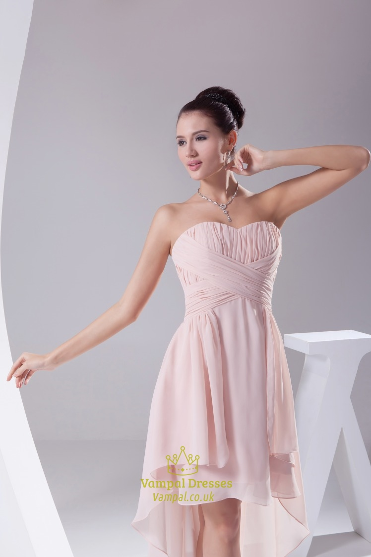 Dusty pink chiffon bridesmaid dress high low homecoming dresses dusty pink chiffon bridesmaid dress high low homecoming dresses 2018 ombrellifo Image collections