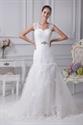 Mermaid Wedding Dress With Cap Sleeves, Pleated Mermaid Wedding Dress