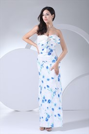 Pretty Woman Blue And White Dress,Blue And White Dress For Girls
