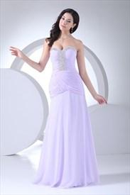 Elegant Lilac Strapless Sweetheart Evening Dress