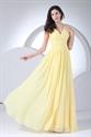 Yellow Chiffon Mother Of The Bride Dress,Long Chiffon Bridesmaid Dress