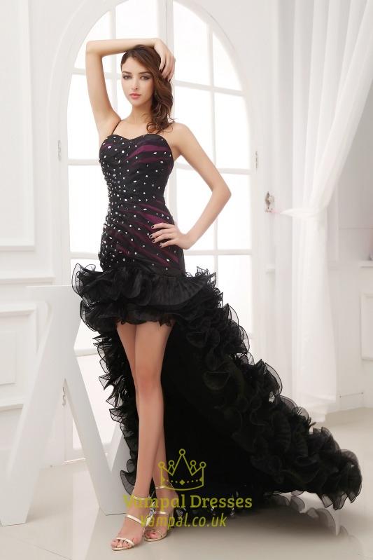 Black High Low Prom Dresses 2016, Black Evening Dresses For Wedding ...