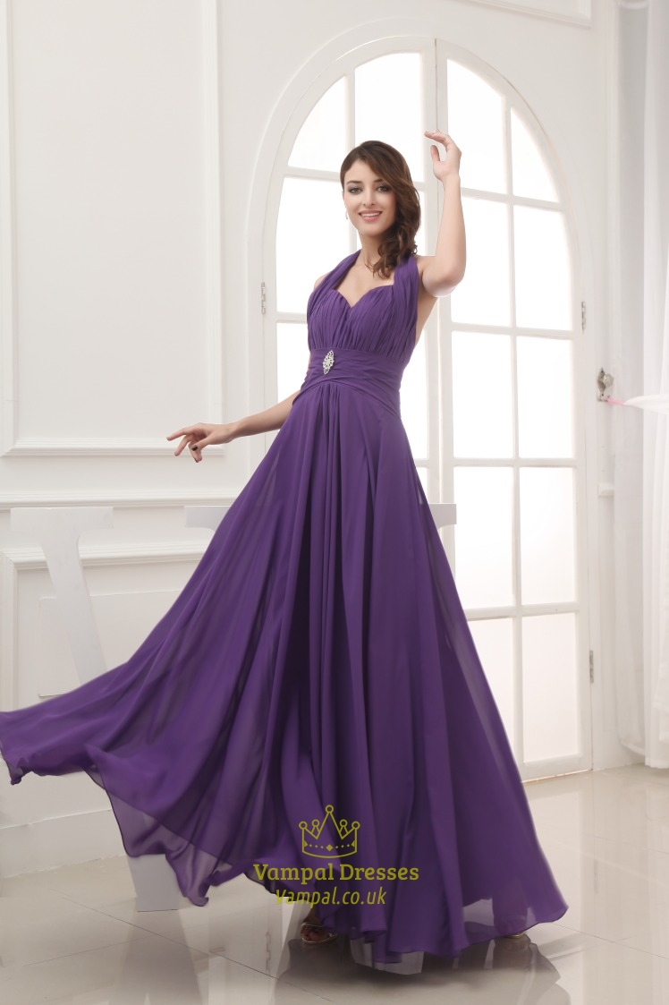 Purple halter prom dresses long chiffon halter bridesmaid dresses purple halter prom dresses long chiffon halter bridesmaid dresses ombrellifo Image collections