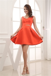Orange Red Homecoming Dresses, Dresses In Orange For Formals