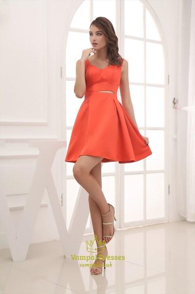 Orange Red Homecoming Dresses, Dresses In Orange For Formals