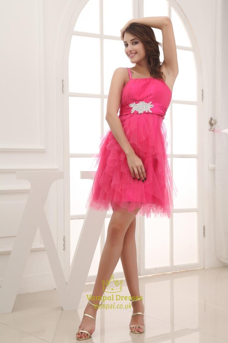 Spaghetti Strap Short Prom Dress Cocktail Dresses For