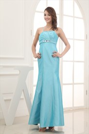 Turquoise Mermaid Prom Dresses, Empire Waist Dresses For Weddings