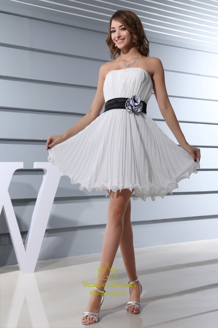 68b2434c717 Ruched Strapless Short Ivory Dress