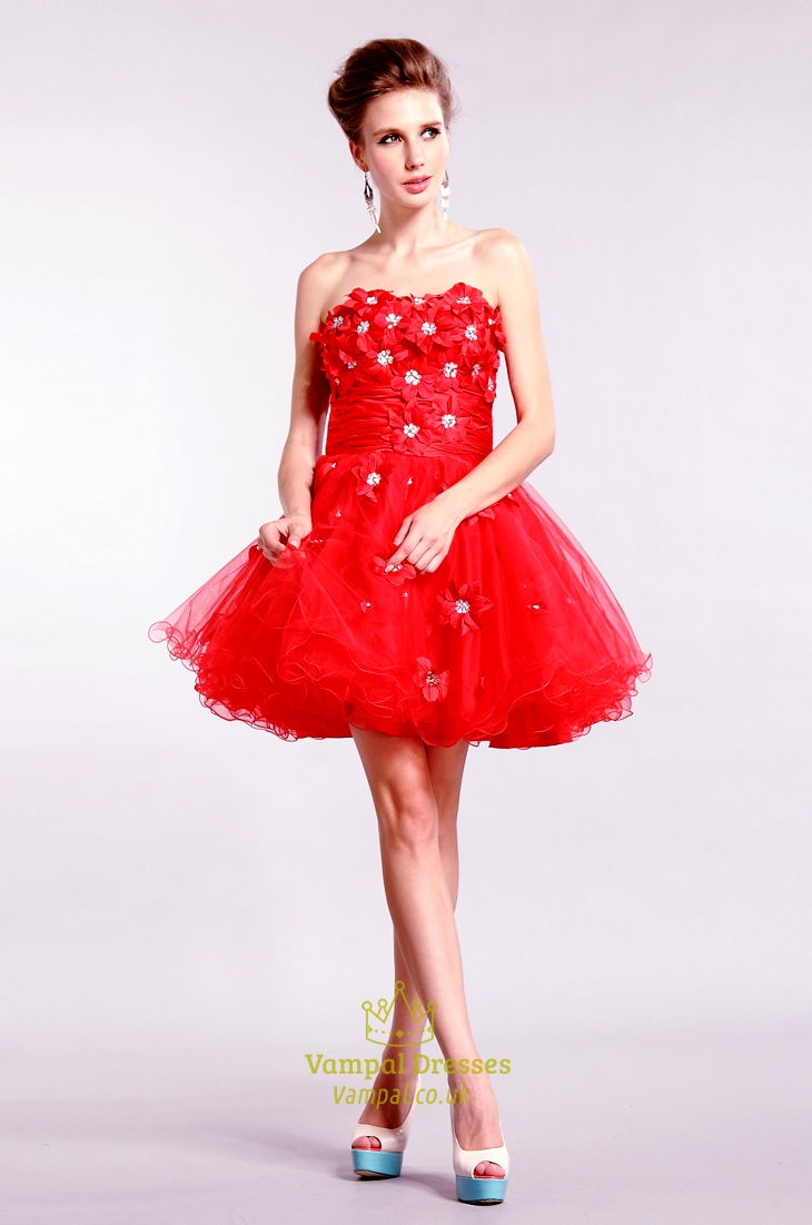 1b0a8c9ddf Red Strapless Homecoming Dresses