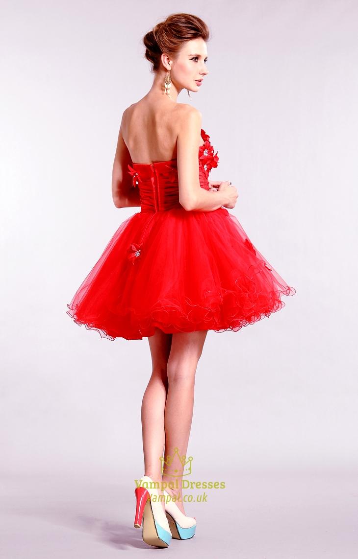 8e36bca6f99 Red Strapless Homecoming Dresses