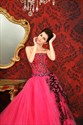 Strapless Ball Gown With Sequin Embellishments,Hot Pink Sweet 16 Dress