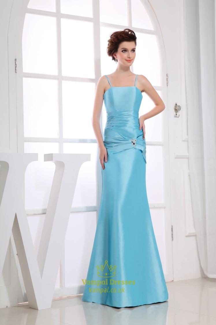 Mermaid aqua prom dresses