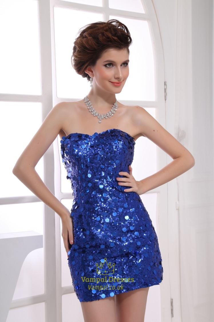c79ce4275d7 Royal Blue Sequin Party Dress