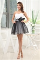 White And Black Homecoming Dresses, Layered Sweetheart Cocktail Dress