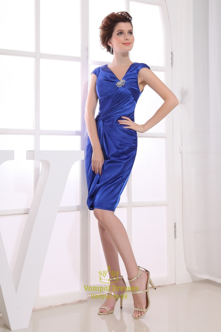 Knee Length Evening Dresses With Sleeves Uk 63