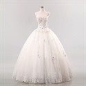White Sweetheart Wedding Dress, Vintage Lace Sweetheart Wedding Dress