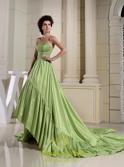 Green Strapless Prom Dresses