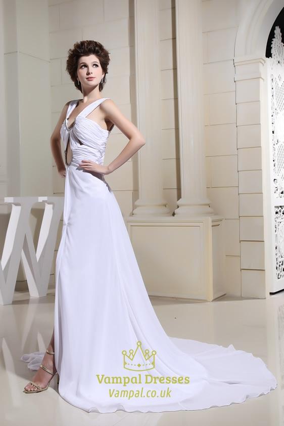 Chiffon A Line Floor Length Evening Dress Prom Dresses