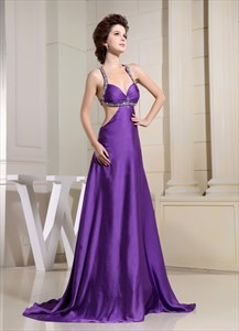 Long Open Back Dresses For Prom, Prom Dresses With Cut Out Sides