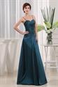 Long Dark Green Bridesmaid Dresses, Taffeta Bridesmaid Dresses Long