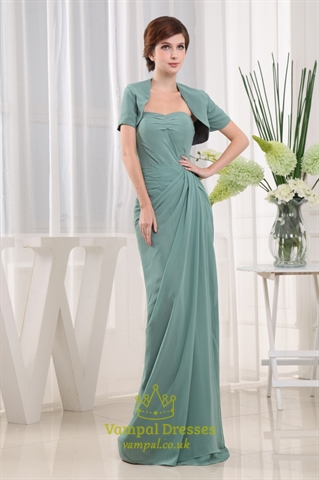 Sheath sweetheart beaded chiffon prom dress draped for Sheath wedding dress with beading and side drape