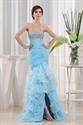 Mermaid Sweetheart Cocktail Organza Evening Dress, Layered Prom Dress