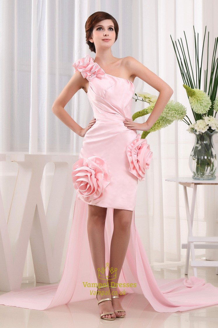 Short prom dress with detachable train hot tesco