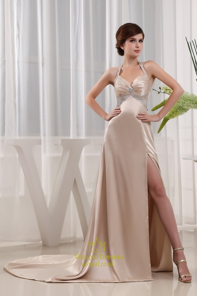 Gown Slik Empire-Wasited
