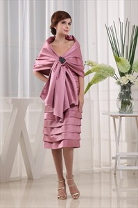 Short Pleated Satin Strapless Dress, Tea Length A-Line Strapless Dress